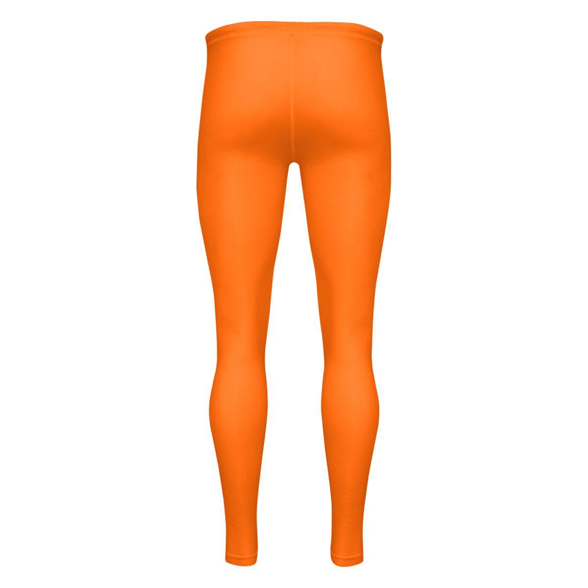c73ce6973197e Mens Compression Tights - Orange - Blackchrome