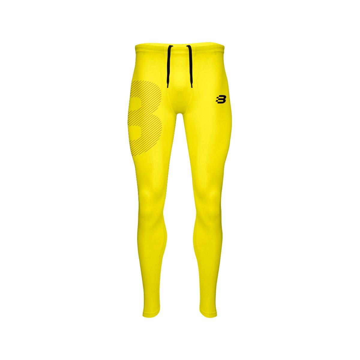 14e79b17fe Mens Compression Tights - Yellow - Blackchrome