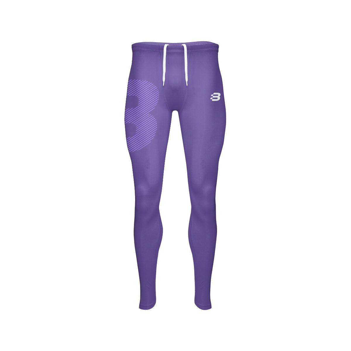 Mens Compression Tights - Purple