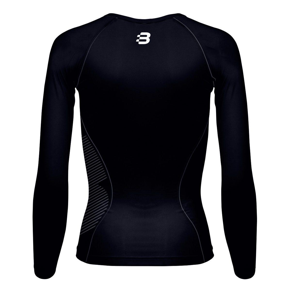 5e3de4bf1c3 Ladies navy blue compression t-shirt · Women s navy compression long sleeve  top - back