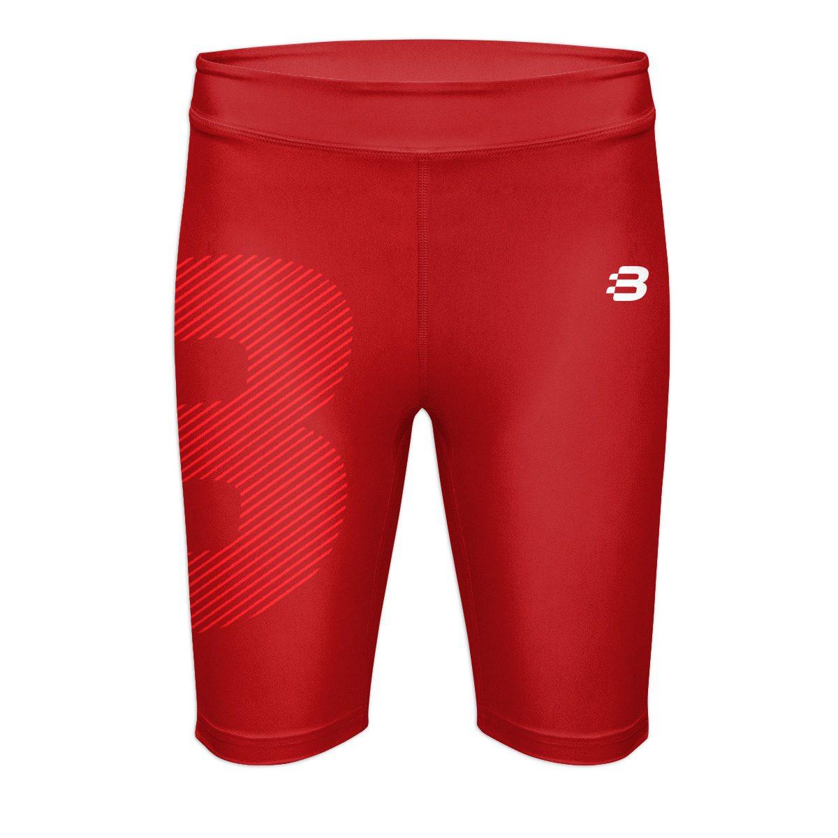 Ladies Compression Shorts - Dark Red