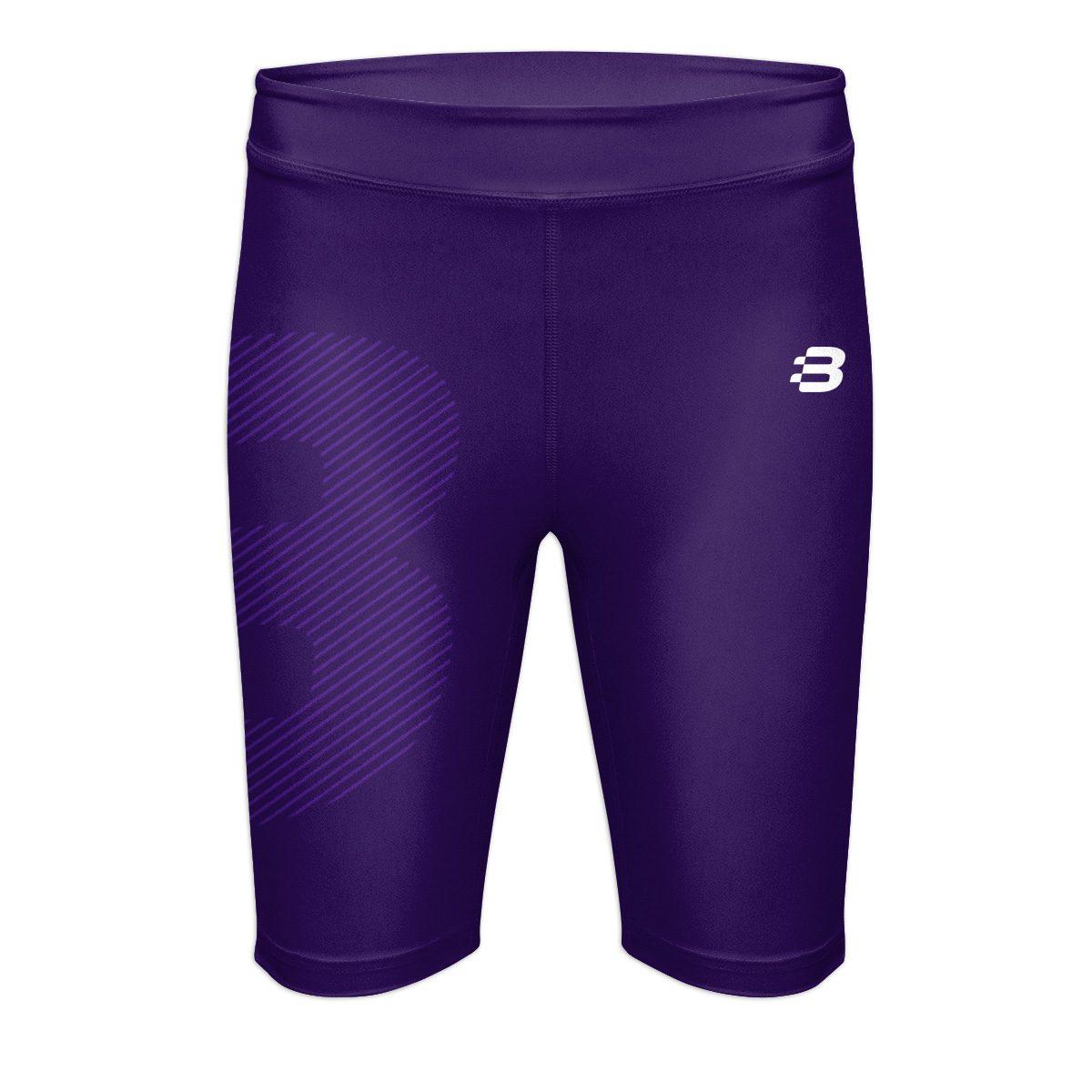 Ladies Compression Shorts - Dark Purple