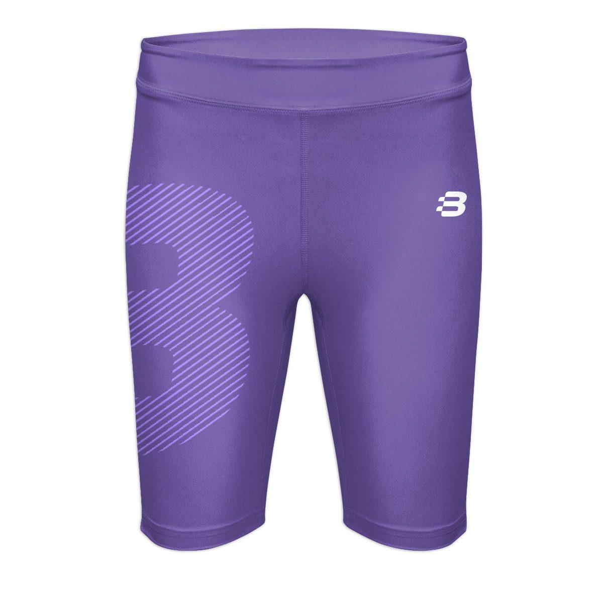 Ladies Compression Shorts - Purple