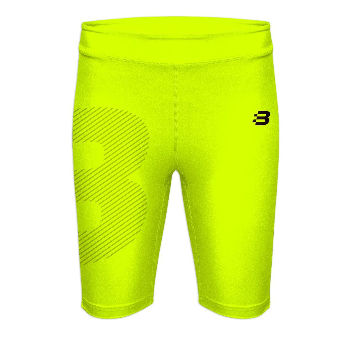 Ladies Compression Shorts - Fluoro Yellow