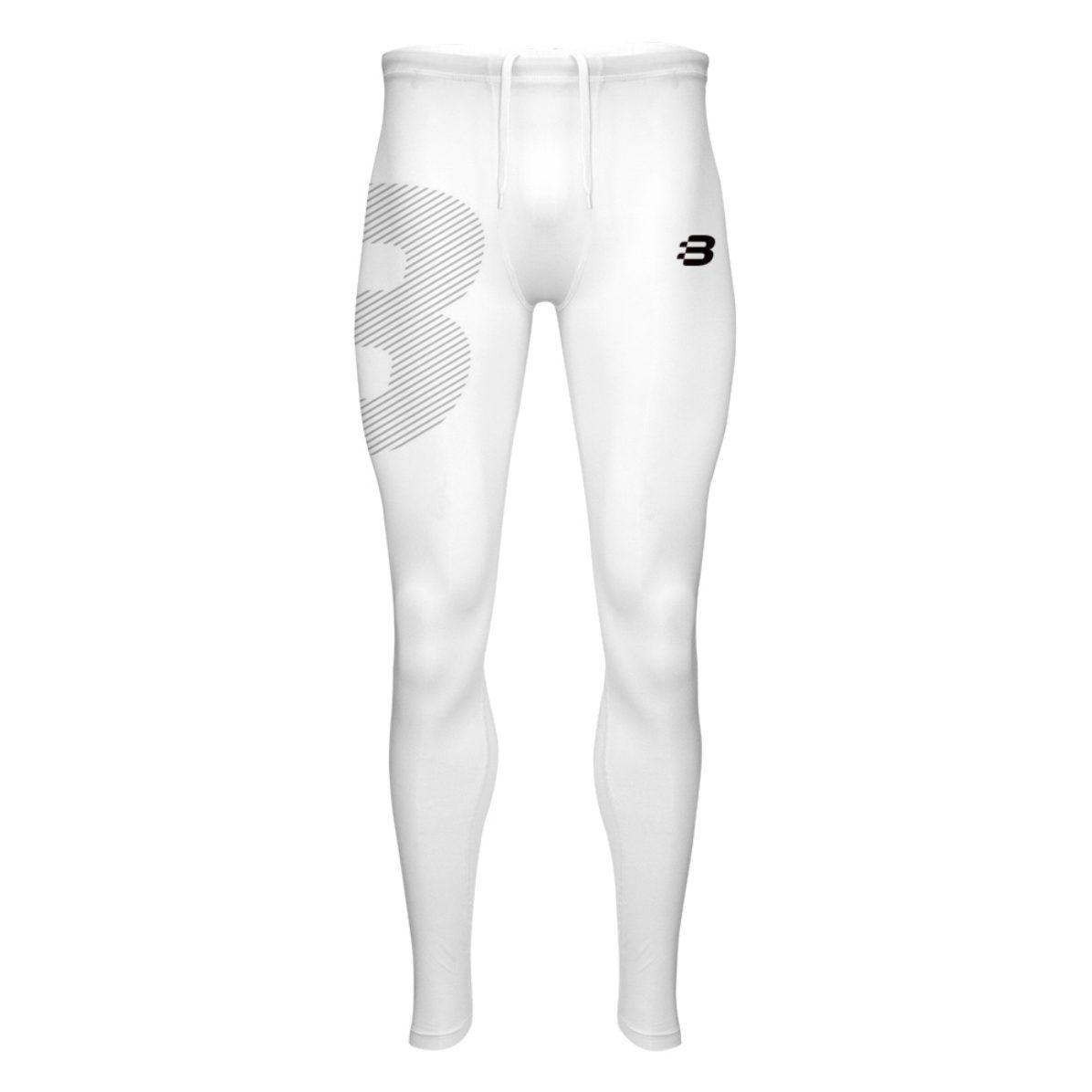 1c67d8d01b Mens Compression Tights - White - Blackchrome
