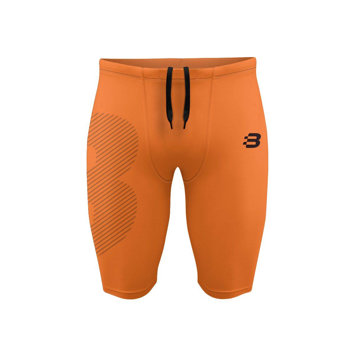 Mens Compression Shorts - Orange