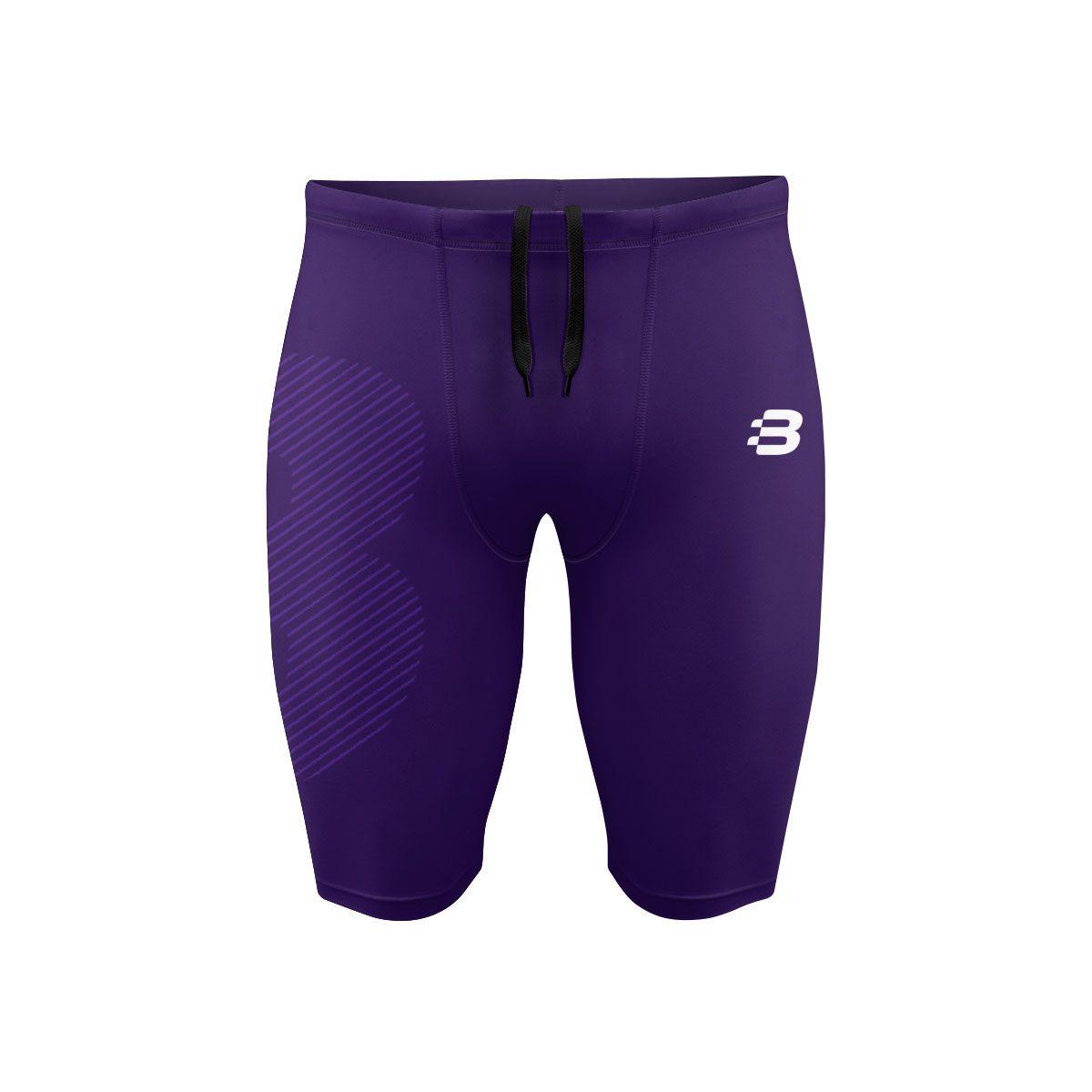 Mens Compression Shorts - Dark Purple