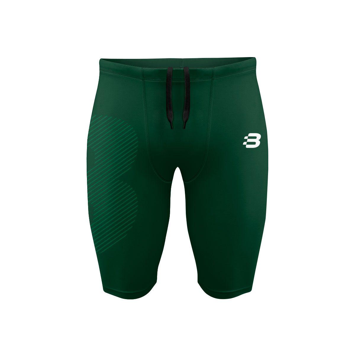 Mens Compression Shorts - Green