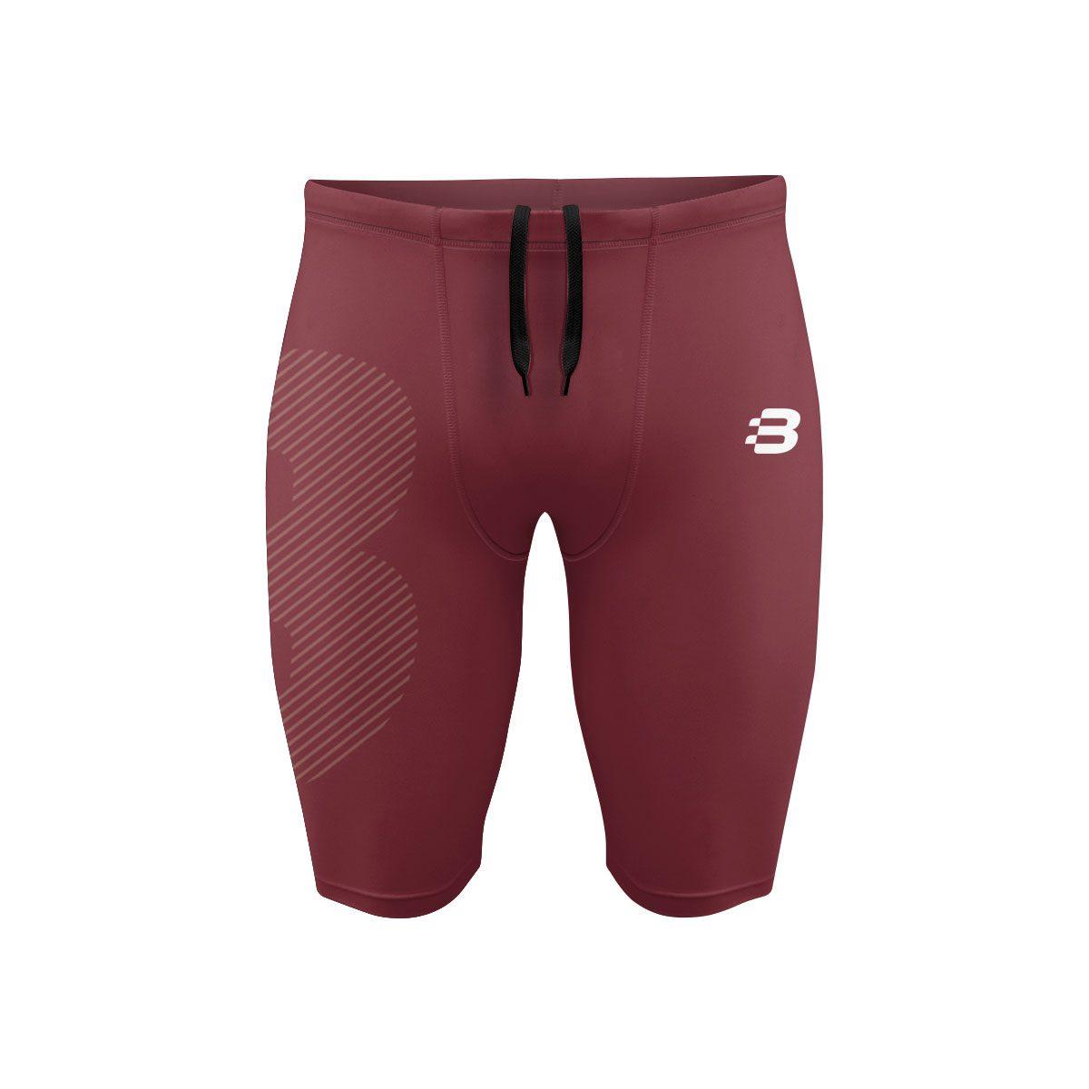 Mens Compression Shorts - Light Maroon