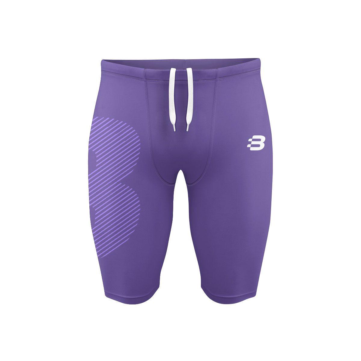 Mens Compression Shorts - Purple