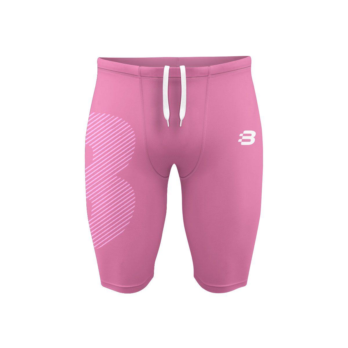 Mens Compression Shorts - Light Pink