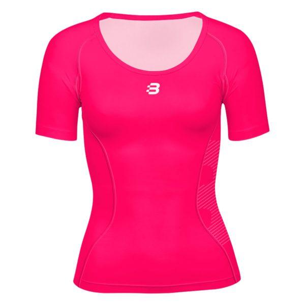 Ladies compression t shirt pink blackchrome for Pink ladies tee shirts