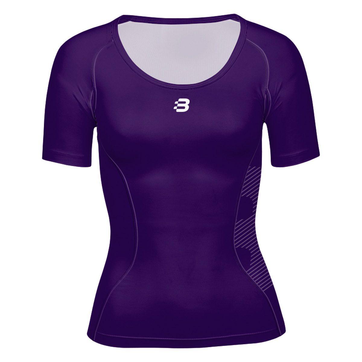Ladies Compression T-Shirt - Dark Purple - Blackchrome