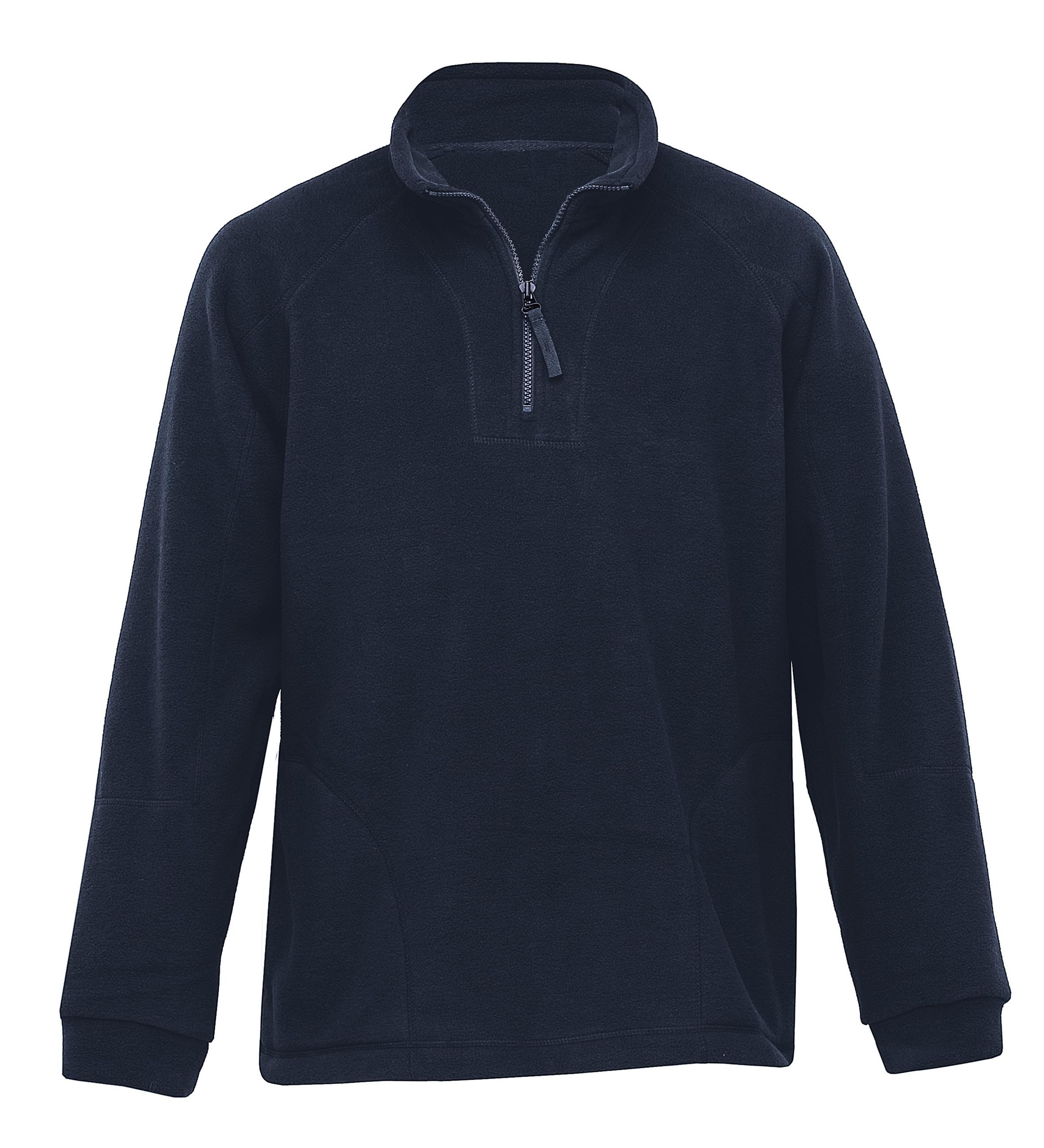 Detailed Polar Fleece Pullover Navy