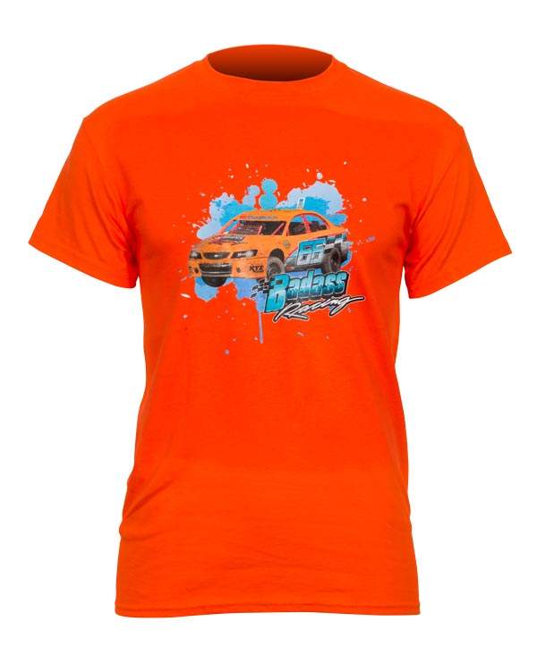 Motorsport direct to garment cotton t-shirt print example
