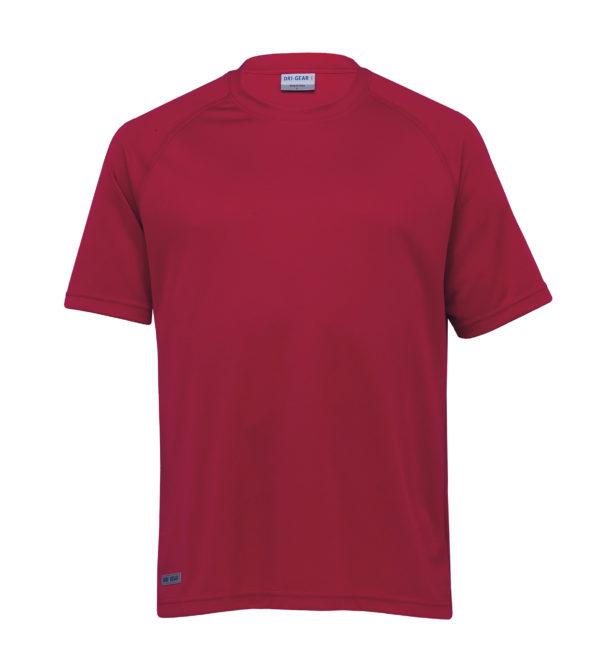 Dri Gear Plain Raglan Tee - DGR - Red
