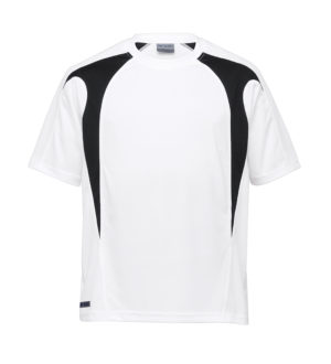 Dri Gear Spliced Zenith Tee - DGST - White/Black
