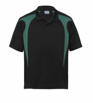 Dri Gear Spliced Zenith Polo - DGSP - Black/Green