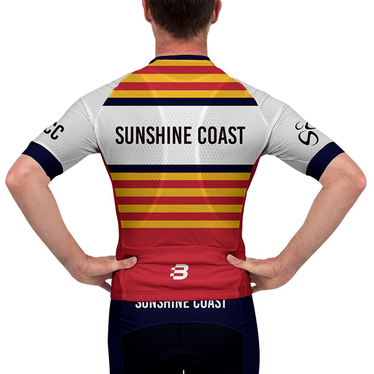 Mens pro fit jersey sunshine coast cycling club for Fishing sponsor shirts