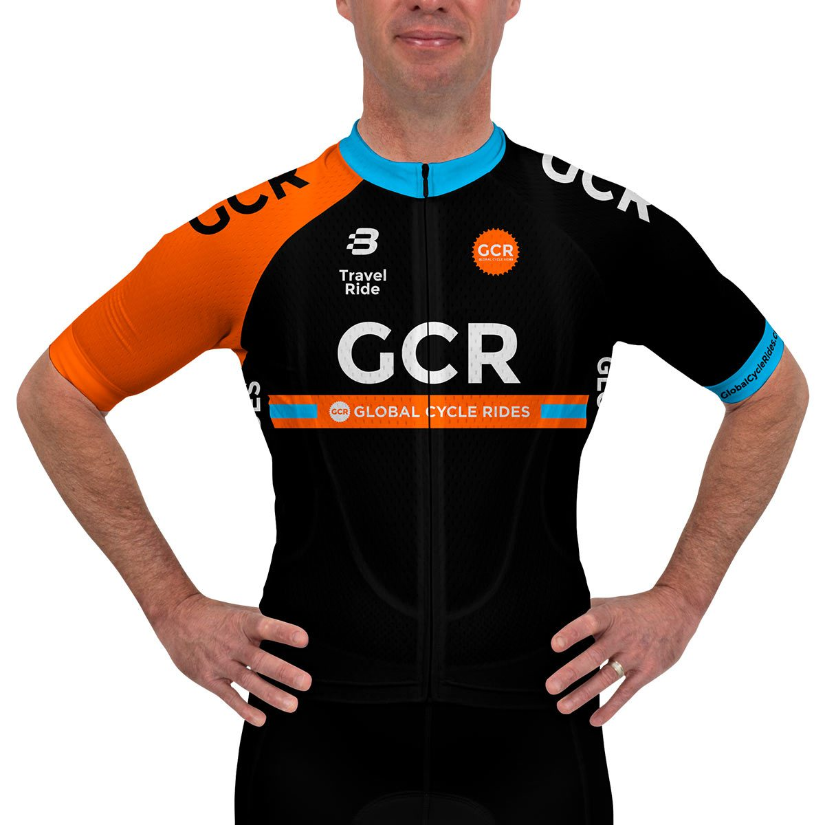 aa8b8353bec Global Cycle Rides - Mens Pro Kit - VL64679 - Jersey - Front