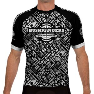 Bushrangers MTB Mens Performance Fit Cycling Jersey – Black White ca37839ce