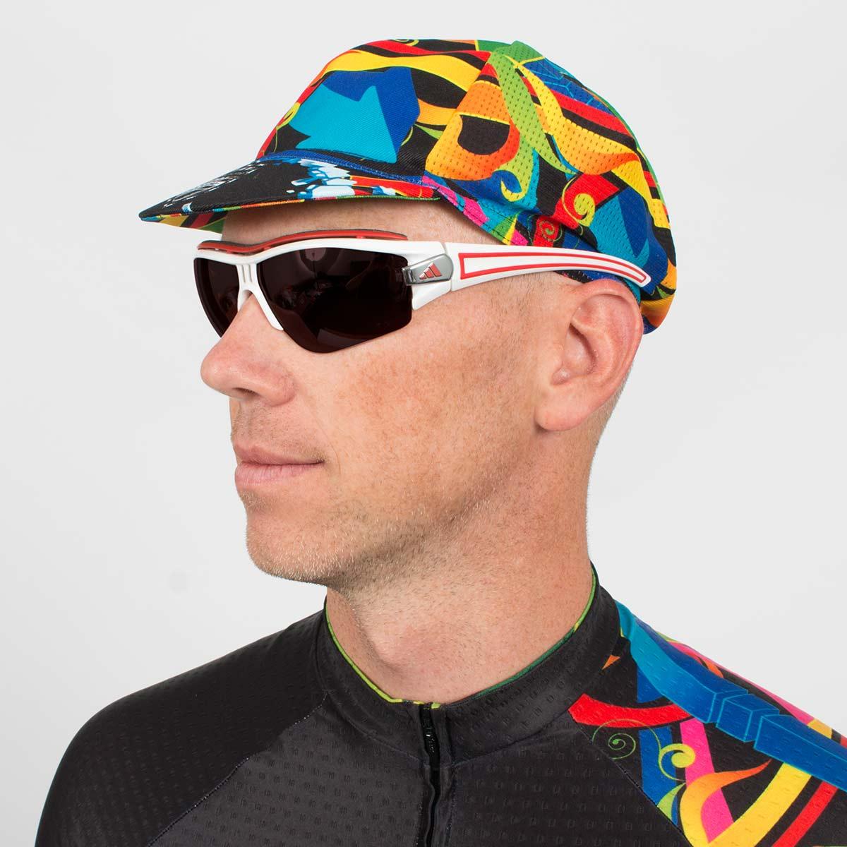 Wildstyle Euro Cycling Cap Limited Edition Blackchrome Graffiti Vl66935