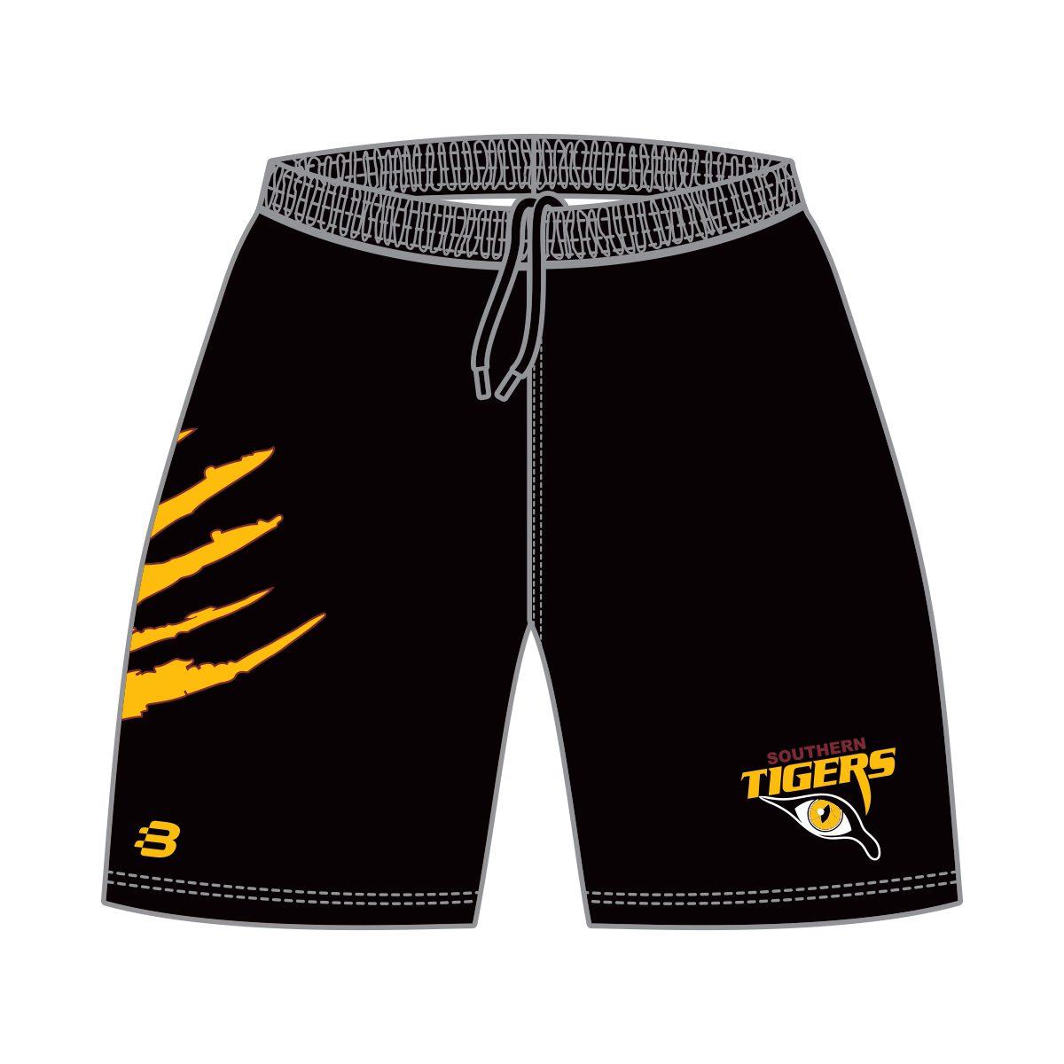 Southern Tigers Mens Basketball Shorts - Black - Blackchrome