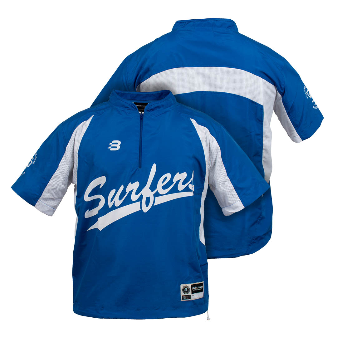 Baseball Batting Cage Jacket - Club Jacket - Sublimated - short sleeve
