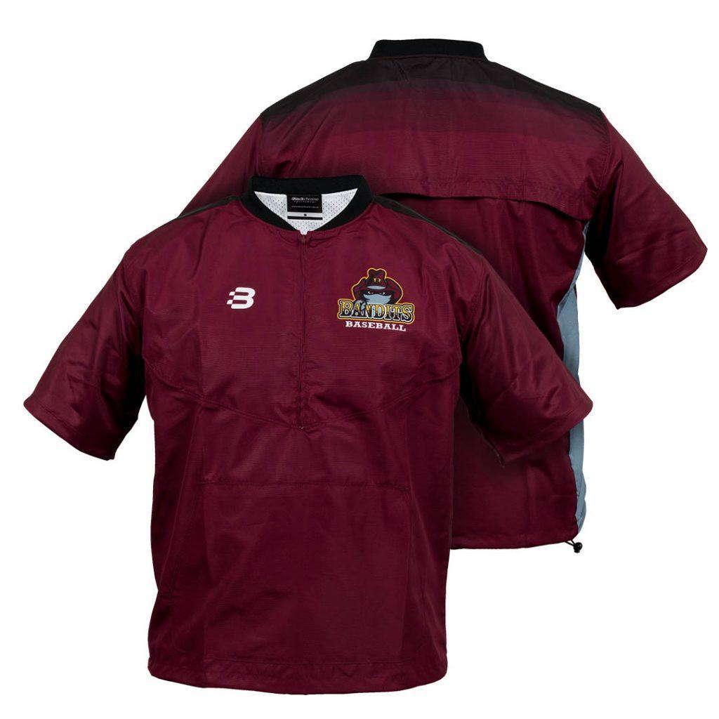 Baseball Batting Cage Jacket - Pro Jacket - Sublimated - short sleeve