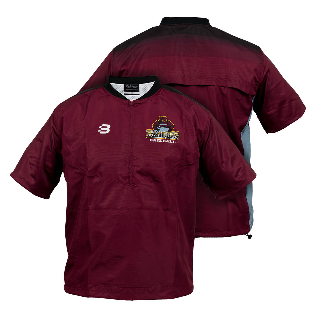 Baseball Batting Cage Jacket - Pro Jacket - Sublimated - short sleeve