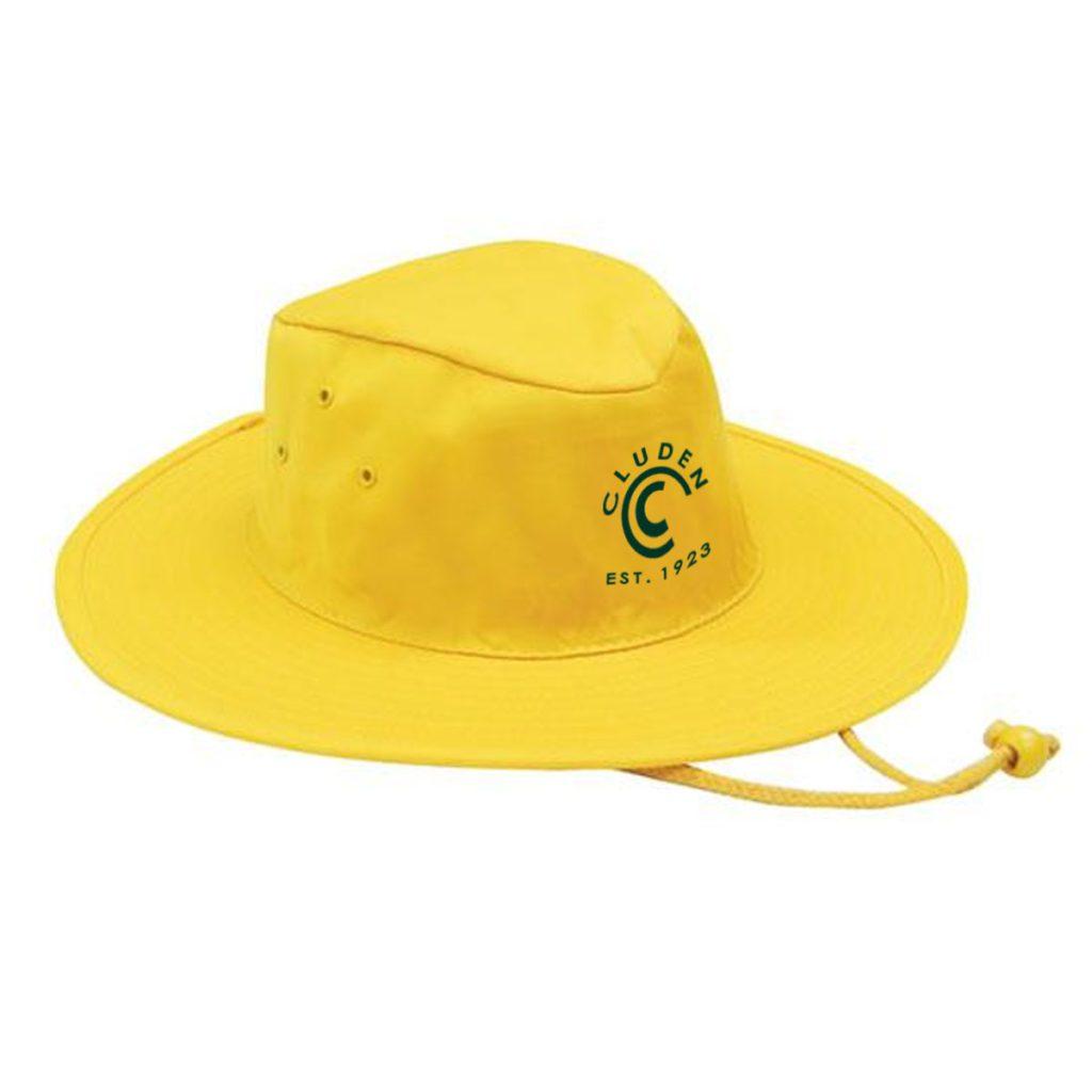 Custom Cricket Headwear - Gold Wide Brim Hat