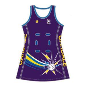 VL86112 - Oakdale - netball dress extended length - front