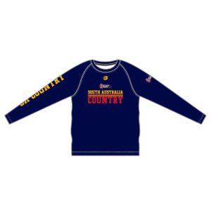 VL88016 - sa country basketball - sb 7016 ma - t-shirt ls - mens adult - front
