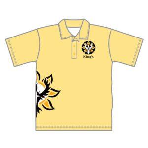 VL87533 - kings baptist grammer school - 052 polo shirt - unisex adult - white - front